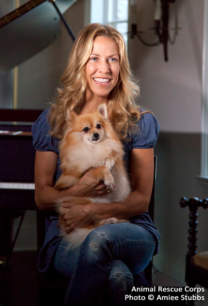 Sheryl Crow with Buttercup by Nashville Dog Photographer Amiee Stubbs